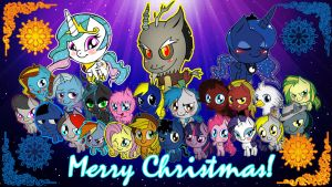 Pony Christmas Wallpaper by Djatomica2
