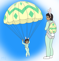 Easter Egg Drop - Sadie by phallen1