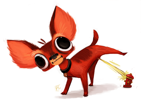 Day 746. #Clifford the big red dog by Cryptid-Creations