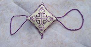 Ornament of the Month - February,  Garland finish by Magical525