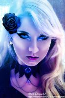 Blue and Violet Lady by BlackDreams11