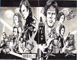 Star Wars Collage on a Blank Cover by JesterretseJ