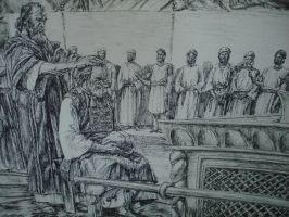 moses annointing aaron by artkid01