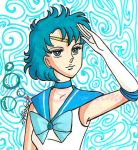 Sailor Mercury in Lady Oscar style by IlariaSometimes