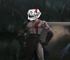 Trolling Kratos by thebloodreaver