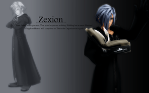 Zexion - wallpaper by Ekumimi
