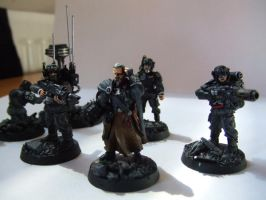 Imperial Guard Command Squad by Iron-Clover