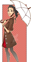 Umbrella Girl by luniara