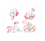 Ramdom - Kirby doodles by Xeon-Licrate