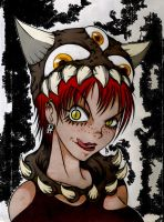 AlexLinear Demon Girl Color by AbrahamGart