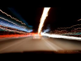 Lights down the Highway by reubenteo