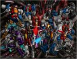 20 years of Starscream colours by Sunstars