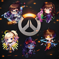 OVERWATCH keychains online available! by SquChan