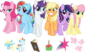 The main six?.. by DubstepPegasister