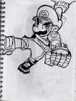Mario (version strikers) by cristoherds
