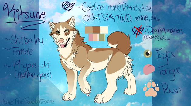 Kitsune-Official Reference 2015 by ThatTroubledFennec