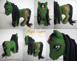 My little Pony Custom Magic Copper by BerryMouse
