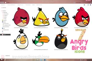 Angry Birds Icons// Iconos de Angry Birds by AguustiinaEditions