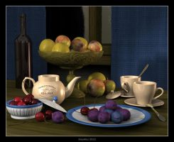 Ceramics and fruits by slepalex