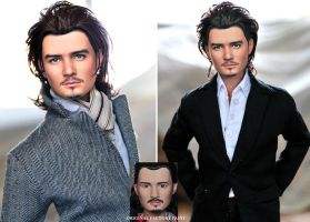 Doll Repaint - Orlando Bloom by noeling