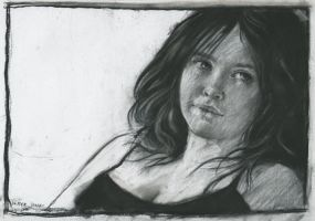 Sunday girl in charcoal by derekjones