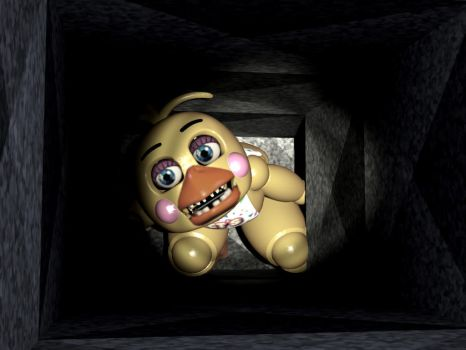 Toy chica in vent with eyes and beak fearlessgerm82 38