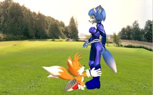 Tails Aching Heart 3D by HectorNY
