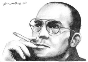 Rough Sketch Hunter S Thompson by funksoulfather