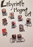 Labyrinth Magnet Set by TheInklingGirl