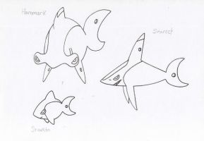 Fakemon- Sharks by JoshuaDunlop
