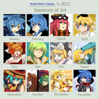 2012 Art Summary by phantato