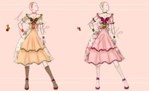 Adoptable: Tea Time Dresses [Open] by Ishicle