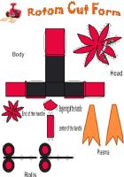 Shiny Rotom cut form papercraf by E-419