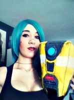 Claptrap plushie and Borderlands inspired make up by KibaNightray