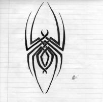 Tribal line spider by DeathAngelsDay