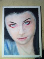 'Amy Lee' - Acrylic Painting - (Jan 2012) by AiluroArtist