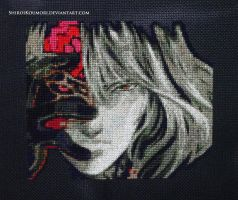 Gebel (Bloodstained: RotN) Cross Stitch by ShiroiKoumori