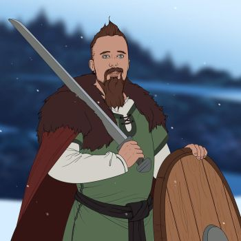 The Banner Saga: Off the Beaten Path - Skall by EternalAnomaly