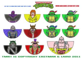 TMNT Mini's by mikedaws