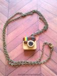 Handmade Polymer Clay Instagram Necklace! by mattiemazingcharms