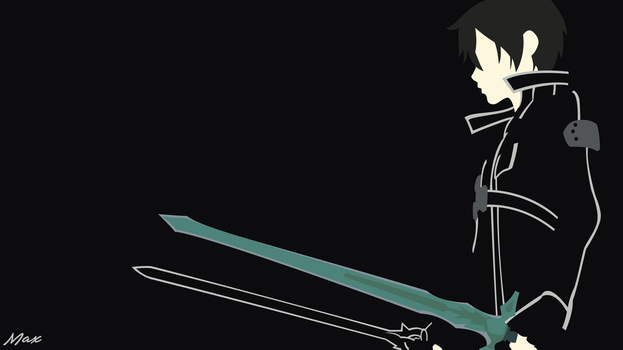 Kirito Black Swordsman (SAO) Minimal Wallpaper by Max028