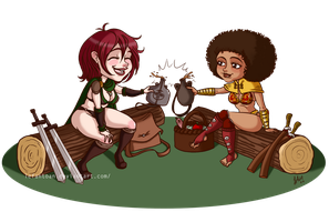 COMMISSION Chibi Tyra and Smacky by Lefantoan