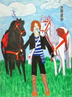 I walk with the boys this my favorite horses by Dash-Ing-Nerro
