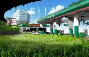 Gas Station Belorusneft by Pino44io