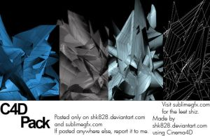 3 C4D's + a Wireframe by shk828