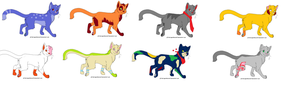 Cat Adoptables 1 by QuitheQuilava556