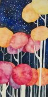 Lollipop watercolor forest by Nimily