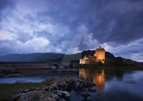 Dusk over Eilean Donan by DL-Photography