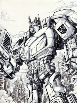 optimus prime/war for cybertron by gamartz