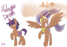 Mlp Oc-Midnight Dream (Sand-Pony) by SilverKnight27